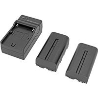 """Image of GyroVu L-Type Battery Kit for 5"""" Monitors, Includes Sony NP-F970, NP-F550 L-Type Battery and Charger"""
