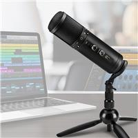H&A Professional USB Microphone For Podcasting and Studio Recording - 25mm Condenser Capsule, with Stand