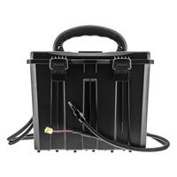 Hco outdoor spartan 12v/6v battery box with dual cable for output and solar panel, battery and solar panel not included