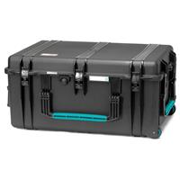 Image of HPRC 2780WSFD Wheeled Resin Hard Case with Soft Deck and Dividers, Black with Blue Handle