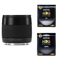 Image of Hasselblad 45mm F/3.5 XCD Lens for X1D Bundle with Hoya HD3 UV and CPL Filter