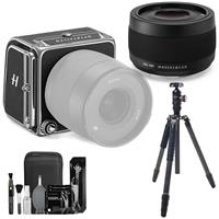 Image of Hasselblad 907X 50C 50MP Medium Format Mirrorless Camera with XCD 45mm f/4 P Lens Bundle with FotoPro X-Go Max Carbon Fiber Tripod, Cleaning Kit