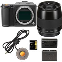 Image of Hasselblad X1D II 50C 50MP Medium Format Mirrorless Camera with 65mm F/2.8 XCD Lens Bundle with Charger Hub, Extra Battery, Release Cord X, 64GB UHS-II V90 SD Card