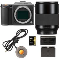 Image of Hasselblad X1D II 50C 50MP Medium Format Mirrorless Camera With 80mm F/1.9 XCD Lens Bundle with Charger Hub, Extra Battery, Release Cord X, 64GB UHS-II V90 SD Card