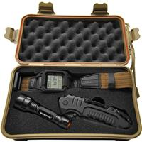 Image of Humvee Gear Recon Mission Serrated Drop Point Knife, with Tactical LED Flashlight and Digital Watch