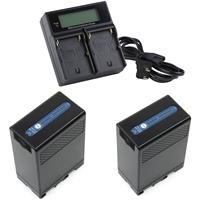 Image of Ikan DV Battery Kit with 2x BP-U68 Lithium-Ion Batteries and Dual Battery Charger