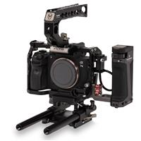 Image of Tilta Tiltaing Sony a7/a9 Series Camera Cage Kit C with Quick Release Top Handle, ARCA & Manfrotto QR Plate, Black