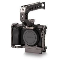 Image of Tilta Full Camera Cage Kit A for Sony A6 Series, Includes Cage, Quick Release Top Handle for BMPCC 4K Cage, Tiltaing Arca-Type & Manfrotto Quick Release Plate, Gray