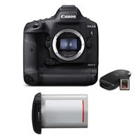 Canon EOS-1D X Mark III DSLR Camera Body with CFexpress Card & Reader Bundle Kit - With Essential Kit, Canon LP-E19 Lithium-Ion Battery Pack