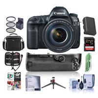 Canon Canon EOS 5D Mark IV DSLR with 24-105mm Lens and Free Canon BG-E20 Battery Grip Kit (Grip + Accessories)