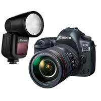 Canon EOS 5D Mark IV with ED 24-105mm Lens and Flashpoint Zoom Li-on X TTL Speedlight