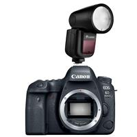 Image of Canon EOS 6D Mark II DSLR Body - Bundle With Flashpoint Zoom Li-on X R2 TTL On-Camera Round Flash Speedlight For Canon (V1)