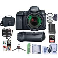 Canon Canon EOS 6D Mark II DSLR with 24-105mm Lens and Free Canon BG-E21 Battery Grip Kit (Grip + Accessories)