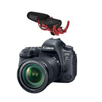 Canon EOS 6D Mark II DSLR with EF 24-105mm f/3.5-5.6 IS STM Lens - With RODE VideoMic with Rycote Lyre Suspension System