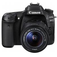Canon EOS 80D DSLR with EF-S 18-55mm f/3.5-5.6 IS STM Lens