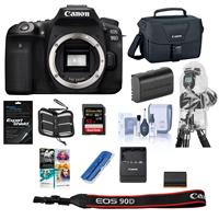 Canon EOS 90D DSLR Camera Body with PC Free Accessory Bundle