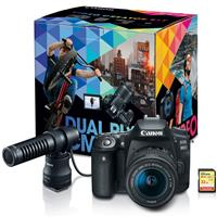 Canon EOS 90D DSLR Video Creator Kit with DM-E100 Directional Microphone & EF-S 18-55mm Lens