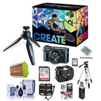 Canon PowerShot G7 X Mark II Video Creator Kit - Bundle With Camera Case, Spare Battery, Spare 32GB SDHC Card, Tripod, Cleaning Kit, Memory Wallet, Card Reader, Software Package