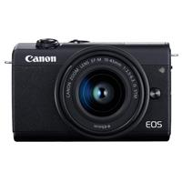 Canon EOS M200 Mirrorless Camera with EF-M 15-45mm f/3.5-6.3 IS STM Lens, Black