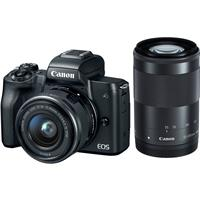 Canon EOS M50 Mirrorless Camera with EF-M 15-45mm f/3.5-6.3 IS STM & EF-M 55-200mm f/4.5-6.3 IS STM Lenses, Black