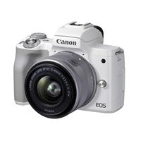 Canon EOS M50 Mark II Mirrorless Camera with EF-M 15-45mm f/3.5-6.3 IS STM Lens, White
