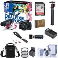 Canon EOS M50 Mirrorless Camera Video Creator Kit, Black With Essential Kit