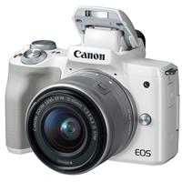 Canon EOS M50 Mirrorless Camera with EF-M 15-45mm f/3.5-6.3 IS STM Lens, White
