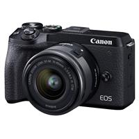 Canon EOS M6 Mark II Mirrorless Digital Camera with EF-M 15-45mm IS STM Lens & EVF-DC2 Viewfinder, Black
