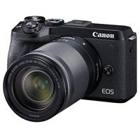 Canon EOS M6 Mark II Mirrorless Digital Camera with EF-M 18-150mm IS STM Lens & EVF-DC2 Viewfinder, Black