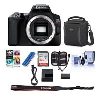 Canon EOS Rebel SL3 DSLR Body - Black - Bundle With Camera Case, 32GB SDHC Card, Memory Wallet, Card Reader, Cleaning Kit, Pc Software Package