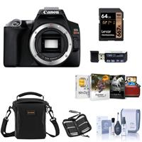 Canon EOS Rebel SL3 DSLR Body - Black - Bundle With Camera Case, 32GB SDHC Card, Memory Wallet, Card Reader, Cleaning Kit, Mac Software Package