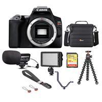 Canon EOS Rebel SL3 DSLR Body Black - Bundle With Camera Case, 32GB U3 SDHC Card, Video Light, Stereo Condenser Microphone, Joby GorillaPod 3K Kit, Peak Camera Cuff Wrist Strap, Triple Shoe V-Bracket Canon
