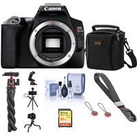 Canon EOS Rebel SL3 DSLR Camera Body Only (Black), Bundle with Bag, Wrist Strap, Mini Tripod, 32GB SD Card, ProOptic Cleaning Kit