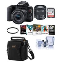 Canon EOS Rebel SL3 DSLR Camera with EF-S 18-55mm f/4-5.6 IS STM Lens - Black - Bundle With Camera Case, 32GB SDHC Card, 58mm UV Filter, Cleaning Kit, Pc Software Package