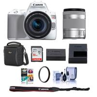 Canon EOS Rebel SL3 DSLR Camera with EF-S 18-55mm f/4-5.6 IS STM Lens White - Bundle With Camera Case, 16GB SDHC Card, 58mm UV Filter, Cleaning Kit, Pc Software Package