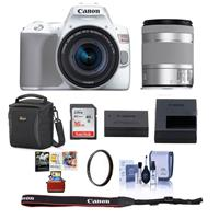 Canon EOS Rebel SL3 DSLR Camera with EF-S 18-55mm f/4-5.6 IS STM Lens White - Bundle With Camera Case, 16GB SDHC Card, 58mm UV Filter, Cleaning Kit, Mac Software Package