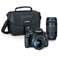 Canon EOS Rebel T7 24.1MP DSLR Camera with EF-S 18-55mm f/3.5-5.6 IS II Lens and EF 75-300mm f/4-5.6 III Lens