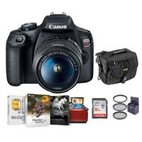 Canon EOS Rebel T7 24.1MP DSLR Camera with EF-S 18-55mm f/3.5-5.6 IS II Lens - Bundle With 58mm Filter Kit, Camera Case, 16GB SDHC Card, Mac Software Packge