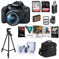 Canon EOS Rebel T7 24.1MP DSLR Camera with EF-S 18-55mm f/3.5-5.6 IS II Lens - Bundle With 58mm Filter Kit, Camera Case, 32GB SDHC U3 Card, 16GB SDHC Card, Spare Battery, Tripod, Software Packge, And More