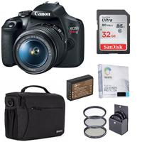 Canon EOS Rebel T7 24.1MP DSLR Camera with EF-S 18-55mm f/3.5-5.6 IS II Lens - Bundle With 32GB SDHC Card, Shoulder Bag, 58mm Filter Kit, Spare Battery, Screen Protector,