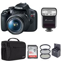 Canon EOS Rebel T7 24.1MP DSLR Camera with EF-S 18-55mm f/3.5-5.6 IS II Lens - Bundle With Flashpoint Zoom-Mini TTL R2 Flashash, 32GB SDHC Card, 58mm Filter Kit, Shoulder Bag