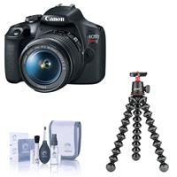 Canon EOS Rebel T7 24.1MP DSLR Camera with EF-S 18-55mm f/3.5-5.6 IS II Lens - Bundle Joby GorillaPod 3K Kit, And more
