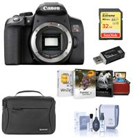 Canon EOS Rebel T8i DSLR Camera Body - Bundle With 32GB SDHC Card, Shoulder Bag, Cleaning Kit, Card Reader, Mac Software Package