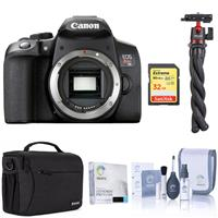 Canon EOS Rebel T8i DSLR Camera Body - Bundle With 32GB SDHC U3 Card, Shoulder Bag, Screen Protector, Ulanzi MT-11 Multifunctional Octopus Tripod, Cleaning Kit