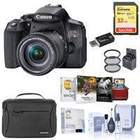 Canon EOS Rebel T8i DSLR Camera with 18-55mm Lens, Bundle with Bag, 32GB SD Card, Filter Pack, Mac Photo Editing Software, Cleaning Kit and Accessories