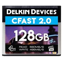 Delkin Devices 128GB CFast 2.0 VPG-130 Memory Card, 560MB/s Read and 495MB/s Write Speed