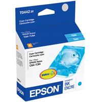 Epson Cyan Ink Cartridge for the Stylus CX4600, Stylus CX6400 and Stylus CX6600 All-in-One Printers and Stylus C64, Stylus C66, Stylus C84, Stylus C84N Stylus C84WN and Stylus C86 Inkjet Printers