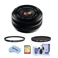 Image of Fujifilm XF 18mm F/2.0 Lens - Bundle With Hoya 52mm 10-Layer HMC Multi-Coated UV Filter, Hoya 52mm HMC Multi-Coated Circular Polarizer Filter, 16GB SDHC Card, Cleaning Kit, Microfiber Cloth