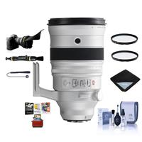 Image of Fujifilm XF 200mm f/2 R LM OIS WR Lens with XF 1.4X TC F2 WR Teleconverter Kit - Bundle With 105mm UV / 105mm CPL Filters, Flex Lens Shade, Lens Wrap, Cleaning Kit, Capleash, cleaner, Mac Software