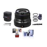 Image of Fujifilm XF 23mm (35mm) F/2R WR Lens, Black - Bundle With 43mm Filter Kit, Lens Case, Cleaning Kit, Capleash, Lens Cleaner, Mac Sofrtware Package